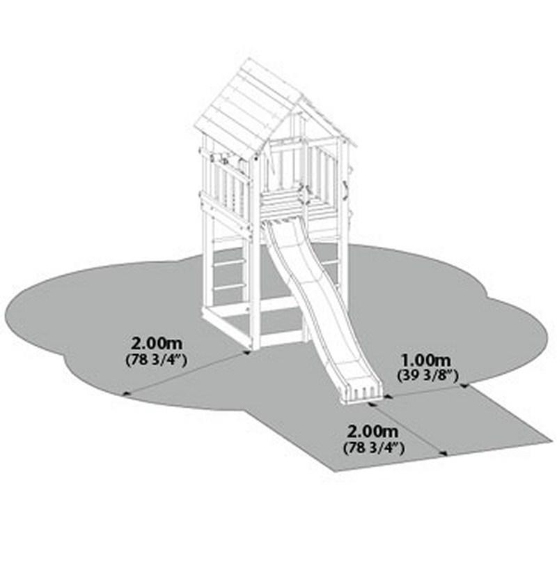 Jungle Gym Cabin bezpečnostné zóny